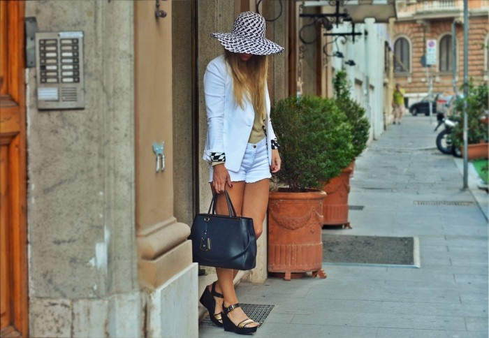 outfit: black & white for the Bvlgari event in Rome