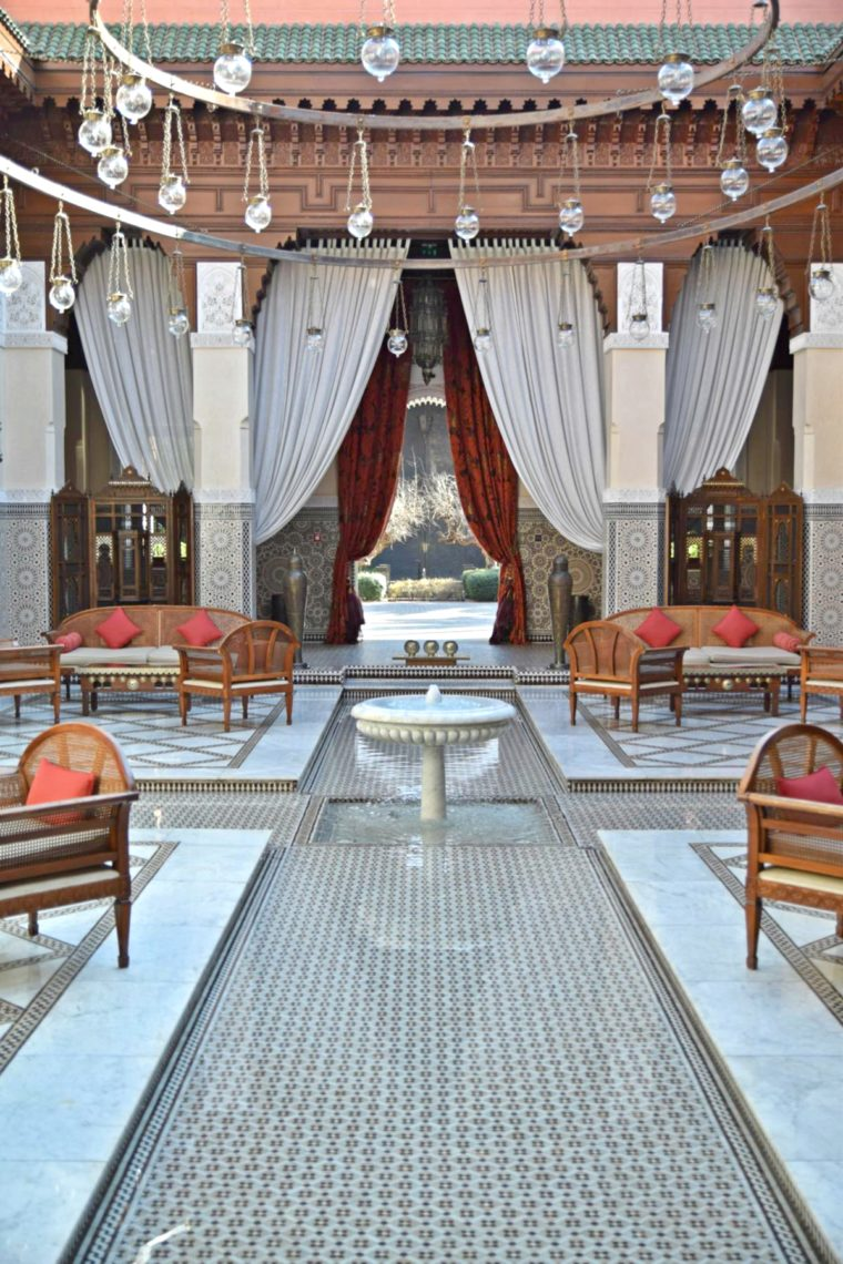 royal mansour outdoor bereich